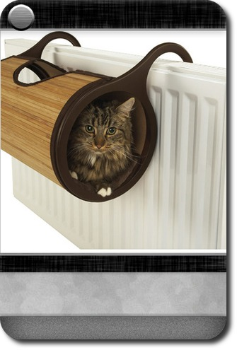 Jolly Moggy Bamboo Radiator Cat Bed Carddit