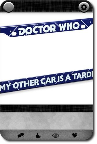 gadgets doctor who license plate frame carddit - Doctor Who License Plate Frame